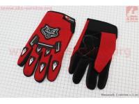 Перчатки мотоциклетные, красные [Китай]