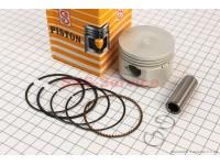 Поршень, кольца, палец к-кт 125cc 52,4мм STD (палец 15мм) желтая коробка [SEE]