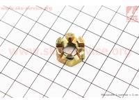 Гайка коронная M10(крепления рулевой тяги/ шаровой опоры) [Китай]