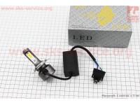 Лампа фары диодная H4 - LED-2 c интеркулером (свет белый), SUPER LIGHT [CYT]