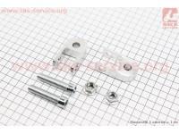 Удлинитель заднего амортизатора 30мм к-кт 2шт + болты + гайки, серый [Китай]
