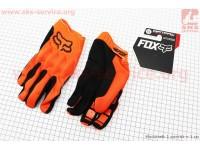 Перчатки мотоциклетные XL-черно/оранжевые [FOX]