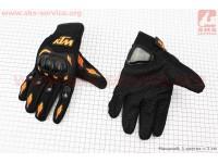 Перчатки мотоциклетные XL-черно/оранжевые [KTM]