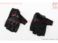 Перчатки мотоциклетные без пальцев L-черные [SCOYCO]