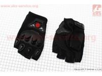 Перчатки мотоциклетные без пальцев XL-черные [SCOYCO]