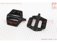 """Педали MTB широкие 9/16"""" (108x108x27mm) пластиковые, черные NW-284 [FPD]"""