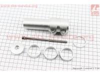 """Удлинитель штока вилки 1 1/8"""" (28.6 мм)х115mm в сборе, алюминиевый, серый [Китай]"""