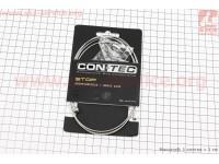 Трос тормозной 1350мм универсальный МТВ/ШОССЕ с концевиком, нержавейка, шлифованный Slick Stainless CP-B3/B4 [CON-TEC]