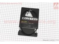 Трос тормозной 2100мм универсальный МТВ/ШОССЕ с концевиком, нержавейка, тефлоновое покрытиe, черный Slick Stainless with Teflon CP-B3/B4 [CON-TEC]