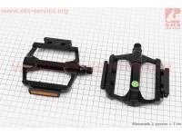 """Педали MTB широкие 9/16"""" (113x100x21.5mm) алюминиевые, черные NWL-122L [FPD]"""