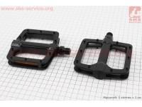 """Педали MTB широкие 9/16"""" (110x102x22mm) алюминиевые, черные NWL-303 [FPD]"""