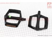 """Педали MTB широкие 9/16"""" (112x109x24mm) алюминиевые, черные NWL-221 [FPD]"""