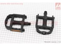 """Педали MTB 9/16"""" (105.5x86x23mm) пластиковые, черные LU-895DU [Wellgo]"""