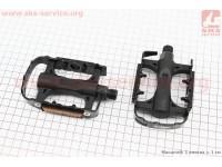 """Педали MTB 9/16"""" (106x64.5x28.5mm) пластико-алюминиевые, черные LU-C25 [Wellgo]"""