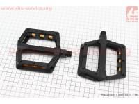 """Педали BMX 9/16"""" (110x100x23mm) пластиковые, черные B239DU [Wellgo]"""