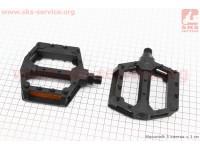 """Педали BMX 9/16"""" (111x99x23mm) пластиковые, черные 205DU [Wellgo]"""
