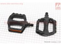"""Педали CHILD 1/2"""" (95x81x25mm) пластиковые, черные LU-968DU [Wellgo]"""