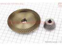 Шестерня метал (D1=82,6мм, d1=14мм, H1=16,6мм, Z1=55 и D2=30мм, d2=10мм, H2=22мм, Z2=18) к-кт 2шт [Китай]