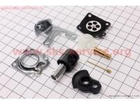 Ремонтный комплект карбюратора 1E34F-1E36F, (без прокладок), 8 деталей [Китай]