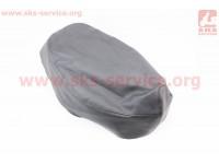 Чехол сидения Honda DIO TACT AF24 (эластичный, прочный материал) черный [Украина]