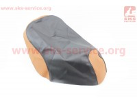 Чехол сидения Honda GIORNO AF-54  (эластичный, прочный материал) черный/коричневый [Украина]