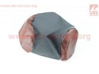 Чехол сидения Yamaha MINT 1YU (эластичный, прочный материал) черный/коричневый [Украина]