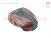 Чехол сидения Yamaha VINO 5AU (эластичный, прочный материал) черный/коричневый [Украина]