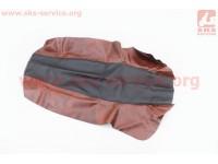 Чехол сидения (эластичный, прочный материал) черный/коричневый [Украина]