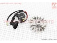 Ротор магнето 1E32F + катушка зажигания к-кт [Китай]