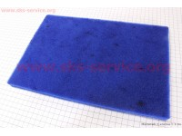 """Фильтр воздушный поролон - """"заготовка"""" 200*300мм с пропиткой, синий [Китай]"""