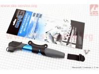 Насос MTB алюминиевый телескопический с Т-ручкой, синий GP 97A [GIYO]