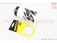 Фляга пластиковая 600мл, с защитной крышкой, черно-белая SWB-528 [SPELLI]