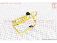 Флягодержатель алюминиевый с пластмассовыми вставками, крепл. на раму, желтый [Китай]