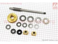 Ремонтный комплект культиватора, 12 деталей+вал+шестерня [Китай]
