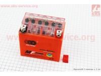 Аккумулятор 5Аh UTX5L-BS (гелевый, оранж) 112/70/105мм, 2019 [OUTDO]