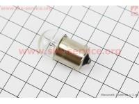 Лампа поворота (белая с цоколем) 12V/5W G18 [Китай]