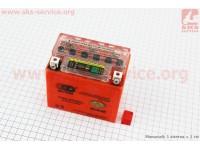 Аккумулятор 5Аh UTX5L-BS гелевый (L113*W70*H107mm), 2020, с ИНДИКАТОРОМ [OUTDO]