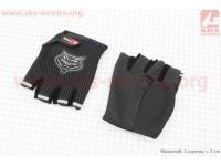 Перчатки без пальцев L-черные [KNIGHTHOOD]