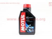 2T-100 MINERAL масло для 2-тактных двигателей, минеральное, 1л [MOTUL]