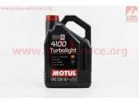 4T-4100 Turbolight 10W-40 масло для бензиновых и  дизельних двигателей, полусинтетическое, 4л [MOTUL]