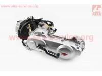 Двигатель скутерный в сборе 4Т-80куб (длинный вариатор, длинный вал) [ZHENGHE]
