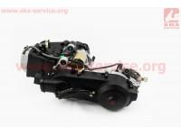 Двигатель скутерный в сборе 125куб (короткий вариатор) [ZHENGHE]