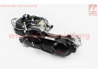 Двигатель скутерный в сборе 4Т-80куб (длинный вариатор, длинный вал) [LIPAI]