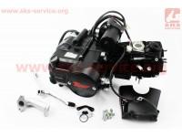 """Двигатель для квадроцикла (мопедный) в сборе 110куб  - """"механика"""" (1передача + 1 задняя) [TMMP]"""