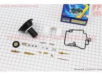 Ремонтный к-кт карбюратора 50-80сс, 19 деталей+поплавок+мембрана 18мм [TATA]