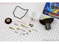Ремонтный к-кт карбюратора 150сс, 14 деталей+поплавок+ мембрана 22мм + мембрана ускорительная [TATA]