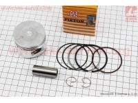 Поршень, кольца, палец к-кт 100cc 50мм +0,75 желтая коробка (палец 15мм) [SEE]
