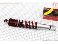 Амортизатор задний GY6/Honda - 320мм*d55мм (втулка 10мм / вилка 8мм) регулир., красный [NAIDITE]