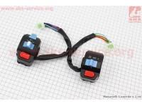 Блок кнопок на руле левый + правый к-кт без рычагов [Китай]