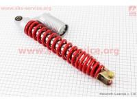 Амортизатор задний GY6 -  345мм*d53мм (втулка 10мм / вилка 8мм), красный [GXmotor]